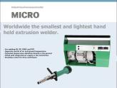 Tài liệu máy hàn đùn Micro